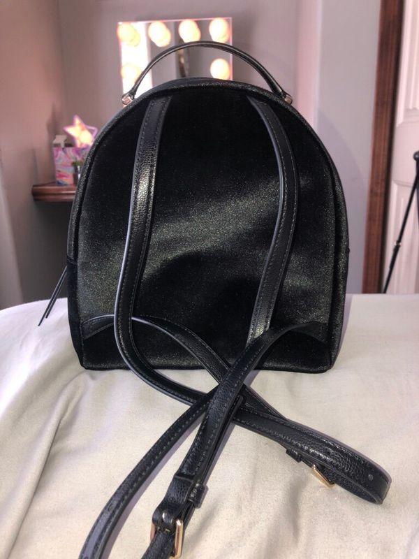 Kate Spade mini velvet backpack