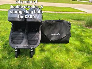 City mini gt double stroller & storage bag both for $300 for Sale in Glendale Heights, IL