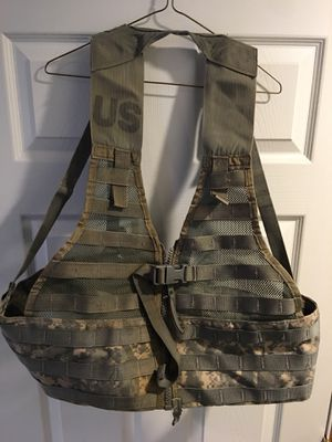 Fighting load carriers $15 each, New three mag pouches $15 each, New waist packs $10 each, New six mag bandoleers two for $15 Used sleeping bags $ for Sale in Mingoville, PA