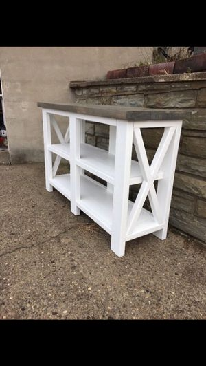"Rustic ""x"" console table for Sale in Pittsburgh, PA"