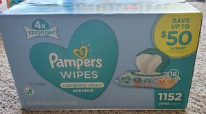 New pampers baby wipes unopened box 1152 count for Sale in San Diego, CA