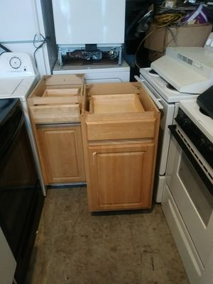Solid wood kitchen cabinets also bathroom cabinets for Sale in Oxon Hill, MD