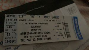 Tickets for aventuras concert for Sale in Simpsonville, SC