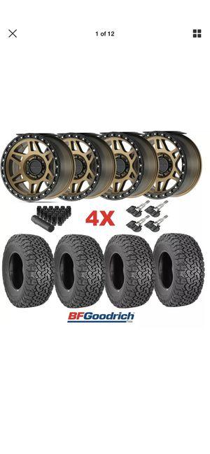 17 Method Bronze Wheels Rims Tires 285 70 17 KO2 BFGOODRICH 6x139.7 6x5.5 Tacoma Sierra Silverado for Sale in Anaheim, CA