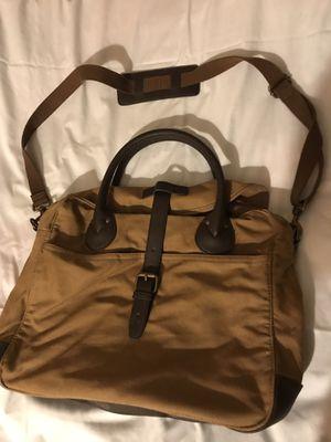 J CREW Carson Laptop Bag, Brown Canvas Satchel Messenger Bag for Sale in Arlington, VA