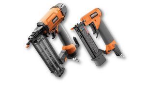RIDGID 18-Gauge Brad Nailer & 23-Gauge Headless Pinner Nail Gun Combo Set for Sale in St. Petersburg, FL