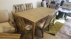 Brand New Outdoor Patio Furniture 7pc Dining Table set 2 arm chairs and 4 armless tax included and free delivery for Sale in Hayward, CA