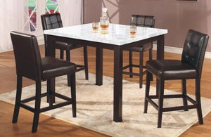 White Marble Counter Height Dining Set for Sale in Silver Spring, MD
