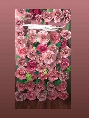 Party backdrop flower wall pink decoration for Sale in Phoenix, AZ