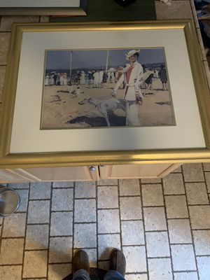 Lady By The Sea, by Francois Flameng for Sale in Estell Manor, NJ