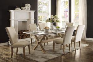 🌲Homelegance Luella Weathered Oak/Gray Zinc Dining Set for Sale in Berwyn Heights, MD