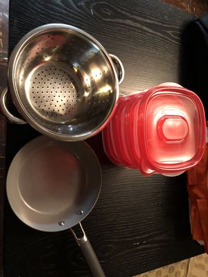 Sets of pans, colanders and boxes for Sale in Washington, DC