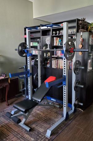 EXERCISE FITNESS EQUIPMENT OLYMPIC WEIGHT GYM SET-UP for Sale in Riverside, CA