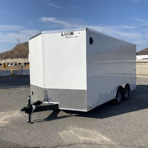 New 8.5x16 Enclosed Look Trailer * 6 inches extra height * for Sale in Redlands, CA