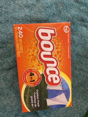 Bounce 4 in 1 Outdoor Fresh Dryer Sheets - 240 ct for Sale in Ithaca, NY