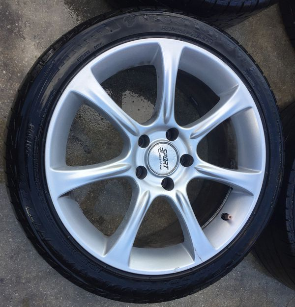 "AFTERMARKET SPORT EDITION 18"" INCH WHEEL RIMS W/ TIRES (SET OF 4)"