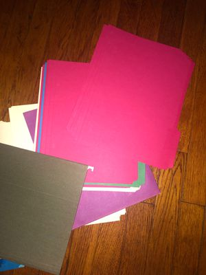 Assorted Hanging Files and File Folders 75 pieces for Sale in Elizabeth, NJ