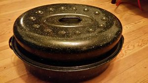 Large Roasting Pan Granite ware Soup Pot Kitchen Cook for Sale in Pasadena, MD
