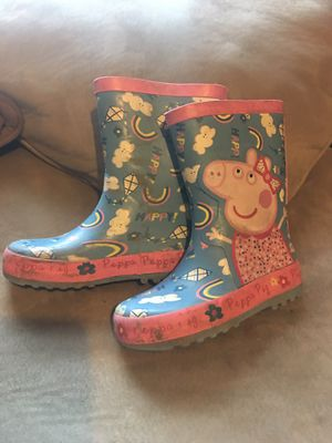 Toddler girls peppa pig rain boots size 8 for Sale in Crosby, TX