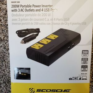 200 Watt Portable Power Inverter With 4 USB Ports for Sale in Cleveland, OH