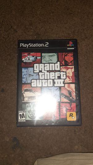 Gta 3 PS2 Game for Sale in Pomona, CA