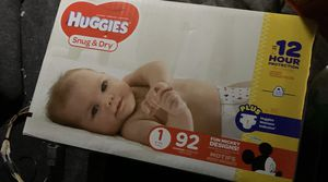 92 Huggies Diapers size1 for Sale in San Antonio, TX