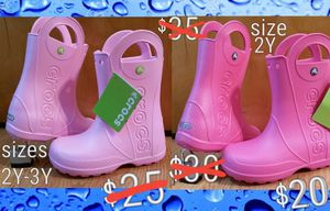 CROCS kids durable rain boots NEW for Sale in Lansing, IL