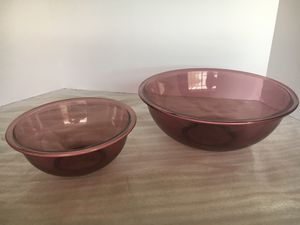 Vintage Pyrex Purple Glass Mixing Bowls for Sale in Palm Desert, CA