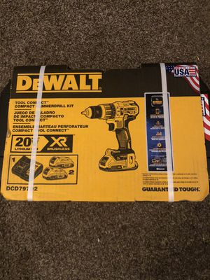 "Dewalt 20v Max XR 1/2"" Hammer Drill with Tool Connect (bluetooth) for Sale in Odessa, TX"