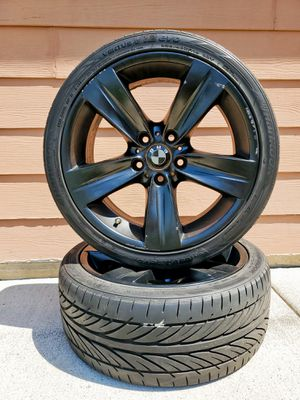 BMW rims size 18 and weather tech floor mats and other accesorios!! for Sale in Pasco, WA
