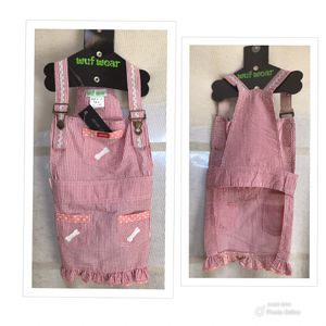 DOG DRESS OVERALLS PINK DOG CLOTHES for Sale in Blairsville, GA