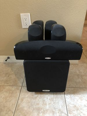 Polk audio 1600 home theater surround sound speaker system w sub for Sale in Holiday, FL