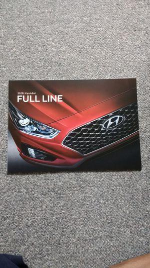 2018 Hyundai Brochure Full Line for Sale in El Monte, CA
