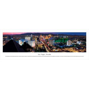 Las Vegas, Nevada by Christopher Gjevre panorama print for Sale in Peoria, AZ