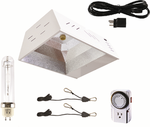 NEW 315w CMH LEC with light hangers, bulb, & timer. 110-240v compatible Good for veg or flower for Sale in Bend,  OR