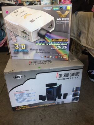 LCD Projector HD-80 / Acoustic Comema Pro series DYS 7.1 for Sale in Quincy, IL