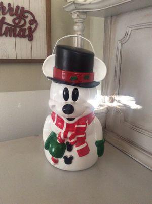 Disney Parks SNOWMAN Mickey CHRISTMAS Popcorn Bucket for Sale in Diamond Bar, CA