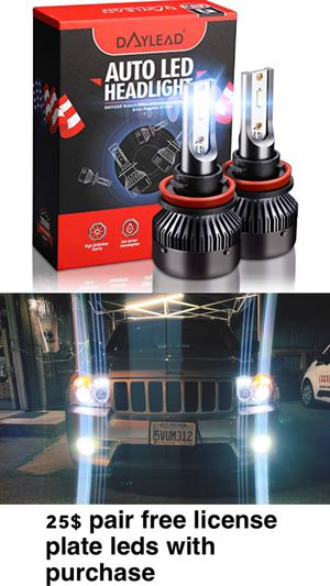US BRAND DAYLEAD LED HEADLIGHTS TOP QUALITY 25$ FREE LICENSE PLATE LEDS WITH PURCHASE for Sale in East Los Angeles, CA