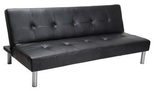 Black leather futon for Sale in Providence, RI
