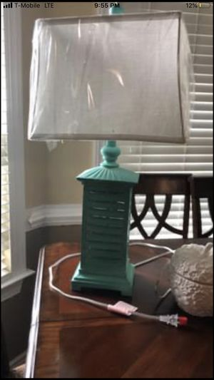 Brand new Turquoise lamp with lightbulb for Sale in Portsmouth, VA