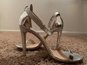 Classic One Strap Heel Metallic Silver sz7.5 for Sale in Aurora, CO