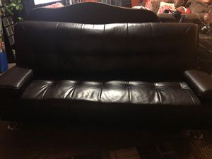 Leather futon for Sale in Signal Hill, CA
