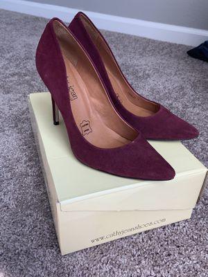 Cathy Jean burgundy heels for Sale in Dinuba, CA