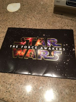 Disney Store Exclusive Star Wars The Force Awakens 4pictures Lithograph for Sale in South El Monte, CA