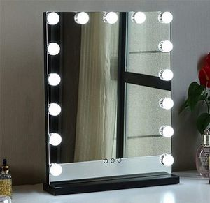 """New $100 Vanity Mirror w/ 15 Dimmable LED Light Bulbs Beauty Makeup 16x20"""" (White or Black) for Sale in South El Monte, CA"""