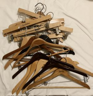 20 assorted wood hangers for Sale in West Palm Beach, FL