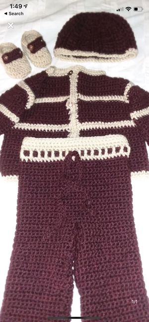 3-6 month new neutral crochet baby clothes for Sale in Lauderhill, FL
