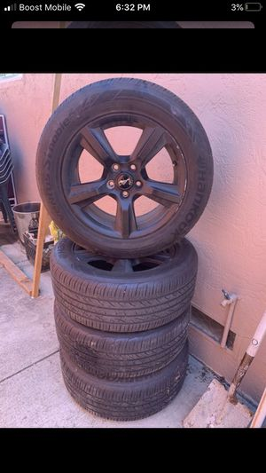 Mustang rims came off a 2017 great conditions an great tires hankook 80% 235/55/17 $360 for Sale in San Jose, CA
