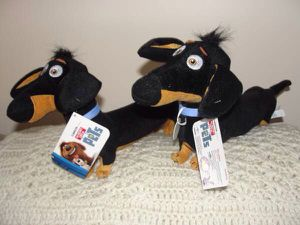 The Secret Life of Pets .. BUDDY .. Dachshund Dog .. Plush Toy .. Pair .. Toy Factory #T309937 .. for Sale for sale  Bristol, PA