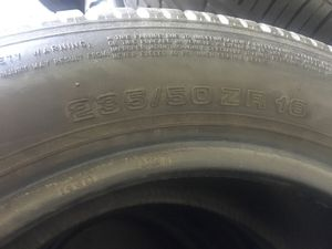 Uniroyal tires almost new 235/50zr16 for Sale in Fairfax, VA